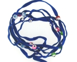 Evil Eye 11465 bracelet Blue with mixed eyes