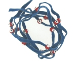 Evil Eye 11465 bracelet Denim with red eyes
