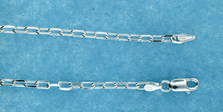 sterling silver 2.5mm marina chain necklace 2MCH021