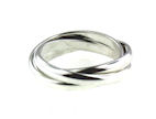 sterling silver trinity band ring 39AA056