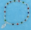 sterling silver evil eye bracelet EEB6121HAM-MC