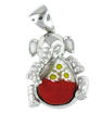 sterling silver elephant pendant 8AP940