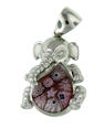 sterling silver elephant pendant 8AP943