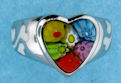 sterling silver heart ring 8ar103