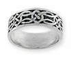 Sterling silver Celtic ring style A329
