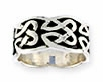 sterling silver celtic design ring A38
