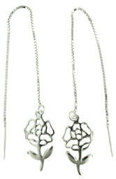 sterling silver threader earring A706-10089