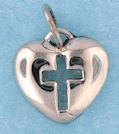 sterling silver heart pendant A7061987