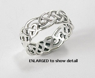 Sterling silver Celtic ring style A767-33