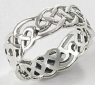 sterling silver Celtic ring A76733
