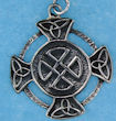 Sterling silver Celtic pendant style A767-36