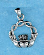 Sterling silver Claddagh pendant style A767-77