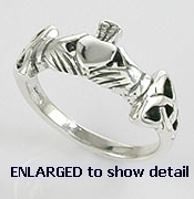 A767-80 sterling silver claddagh ring