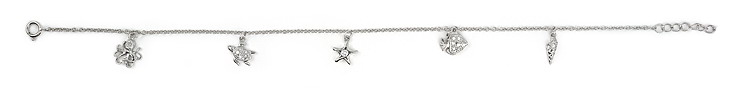 sterling silver anklet AAB033