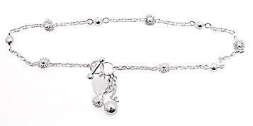 sterling silver anklet AAB107
