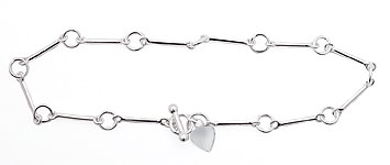 sterling silver toggle anklet AAB111