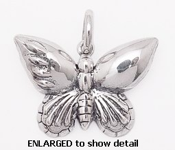 model abc216 butterfly pendant enlarged view