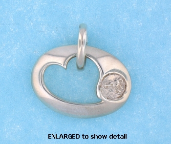 model ABC515 heart pendant enlarged view