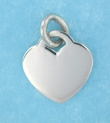 sterling silver heart pendant necklace ABC516