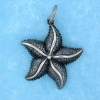 sterling silver starfish pendant abc517