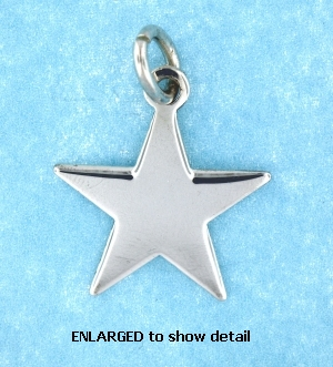 Sterling silver 5 point star pendant star pendant necklace model abc518 model abc518 star pendant enlarged view product description beautiful sterling silver mozeypictures Image collections