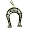 sterling silver horse pendant ABCP1057