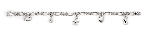 sterling silver charm bracelet ABH065
