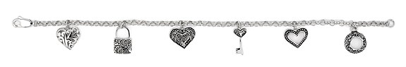 sterling silver charm bracelet ABH075