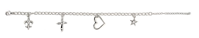 sterling silver charm bracelet ABH077