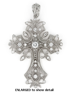 Cross jewelry sterling silver cz cross necklaces cz cross pendant abz604 cz cross pendant aloadofball Image collections