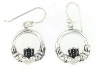 sterling silver wire Claddagh earring style ACDC0001