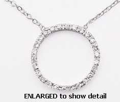 ACZ122 CZ circle necklace