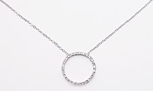 sterling silver Cubic Zirconia necklace ACZ122