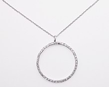 sterling silver Cubic Zirconia necklace ACZ123