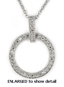 ACZ417 CZ circle necklace