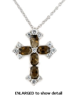 ACZ584 CZ cross necklace