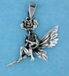 sterling silver fairy pendant AFS0002