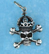 Model AGP706555 Skull with cross bones and crown