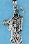 Model AGP768100 Gothic pendant with grim reaper pendant with sickle