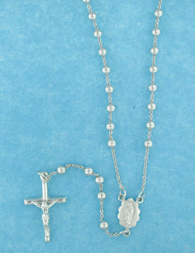 sterling silver cross rosary necklace