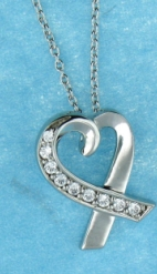 sterling silver CZ necklace AnP20585