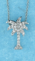 sterling silver CZ necklace ANP20624
