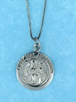 sterling silver religious communion necklace