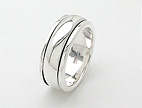sterling silver spinner rings AR0014