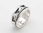 sterling silver horse spinner rings AR0016
