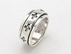 sterling silver spinner ring style AR0027
