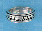 sterling silver spinner rings AR0054