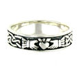 sterling silver claddagh rings AR767-85