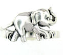 sterling silver elephant ring ARP0014
