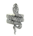 sterling silver snake ring style ASNR0513